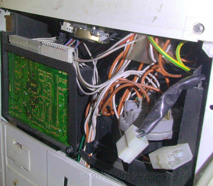 Основные электронные узлы siemens wp2100 - командоаппарат , электронный модуль, датчик уровня воды